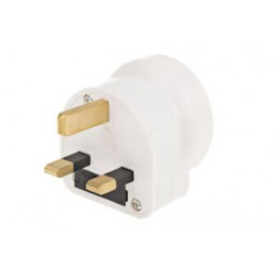 White solid moulded adaptor,13A 250Vac Úti adapterek